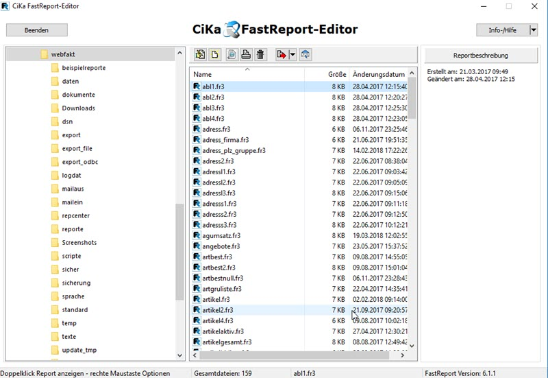 FastReport Editor