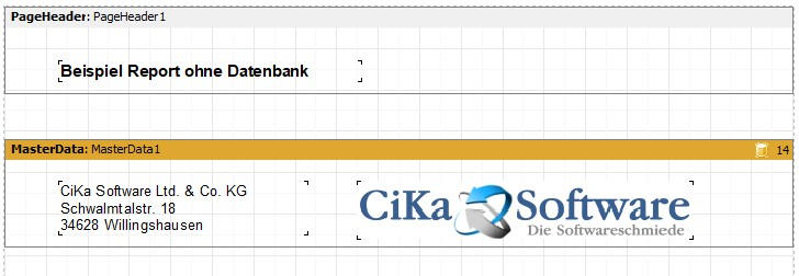 Report ohne Datenbank