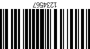 Barcode gedreht 180