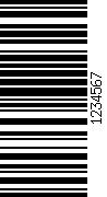 Barcode gedreht 270
