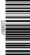 Barcode gedreht 90
